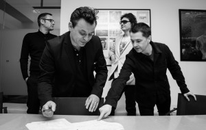 Manic Street Preachers re-signing their record deal with Columbia Records, Sony Music, London 21/05/15 Photo by Chris Lopez